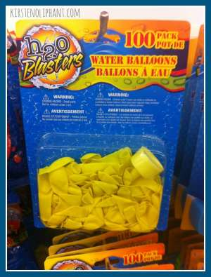 Water Balloons--Dollar Store Boredom Busters.