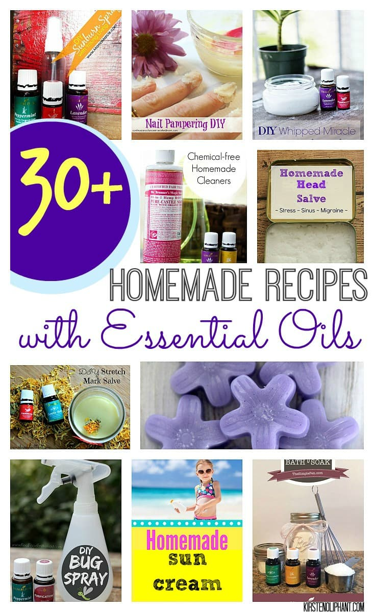 If you're an essential oil user, this is a great roundup of homemade products! So many great ideas.