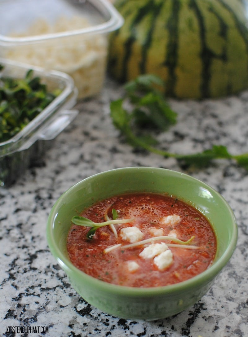 Crisp and complex, this cool watermelon gazpacho makes a great summer appetizer.