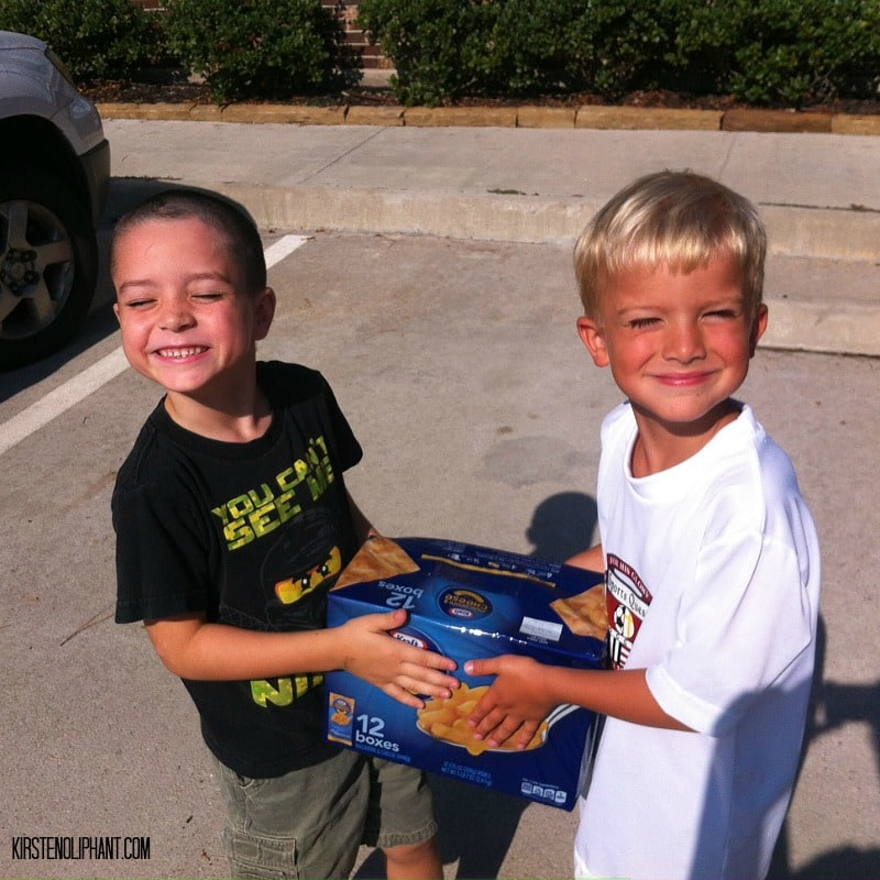#ad Donating food to a local shelter is a great way to teach your kids to be #HungerHeroes.