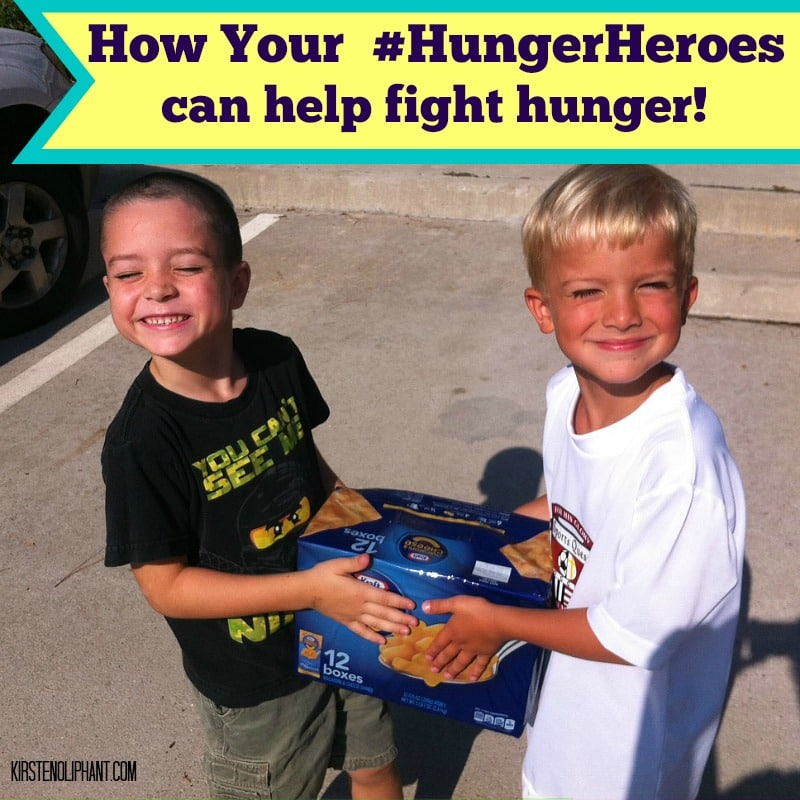 #ad Teach your kids to fight hunger with Sam's, Tyson, and KRAFT! #HungerHeroes #cbias