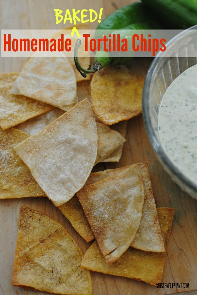 Baked, not fried, these simple homemade tortilla chips are easy and delicious.