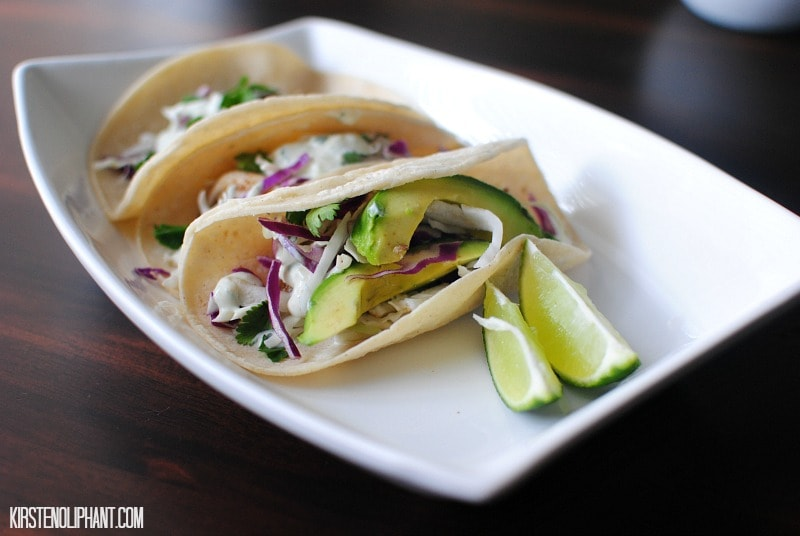 A recipe for healthy, easy fish tacos.