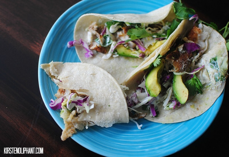 A recipe for easy fish tacos