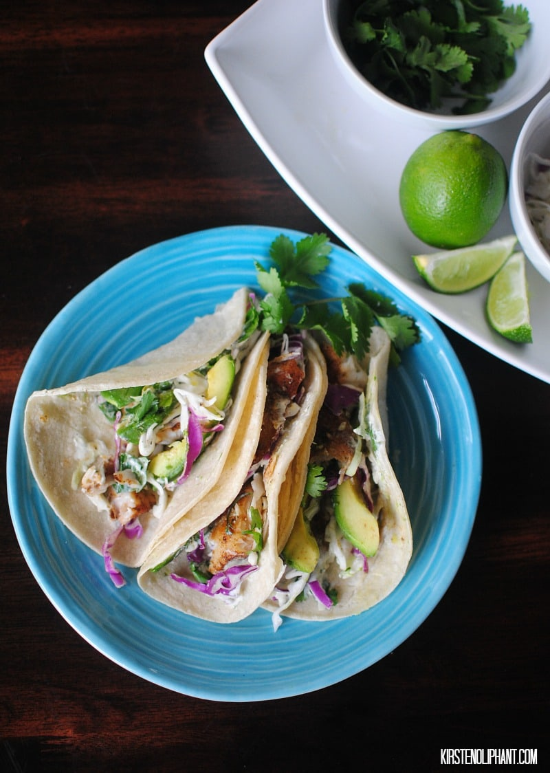 Easy fish tacos!