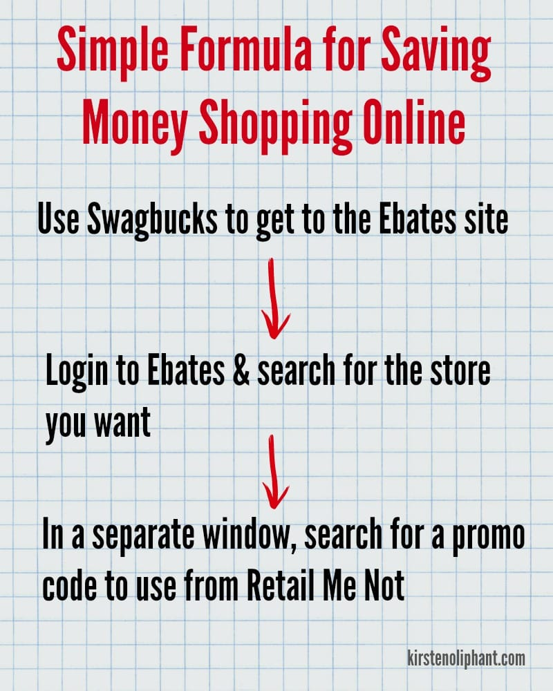 An easy formula to save money shopping online