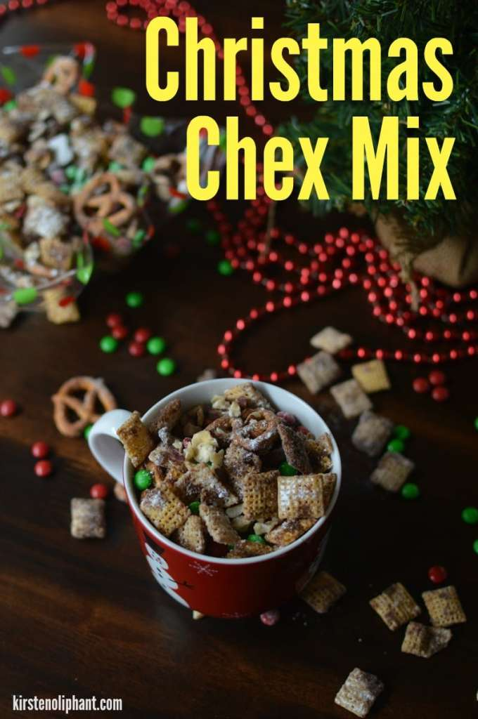 Try this cinnamon sugar and spiced Chex Mix recipe!