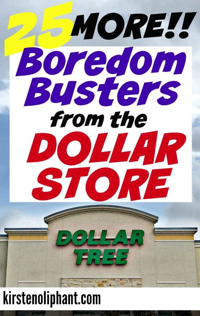 Activities for kids don't have to be fancy or expensive. Try these 25 Boredom Busters from the Dollar Store!