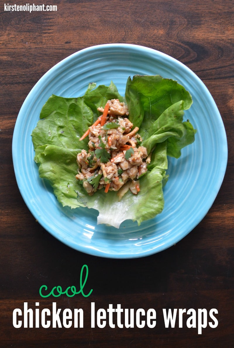 Perfect for summer, these cool chicken lettuce wraps have all the flavors you've come to love in a lettuce wrap recipe, but has a cool crunch that is totally refreshing!