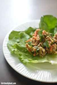 Cool chicken lettuce wraps- the same taste you love with a fresh crunch served cool. Perfect for summer!