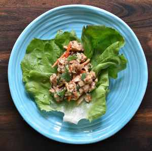 You will love this cool take on traditional chicken lettuce wraps!