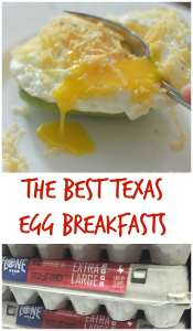 Even egg breakfasts are bigger (and better) in Texas! A few great breakfast ideas from the Lone Star State! #ad #LoneStarEggs