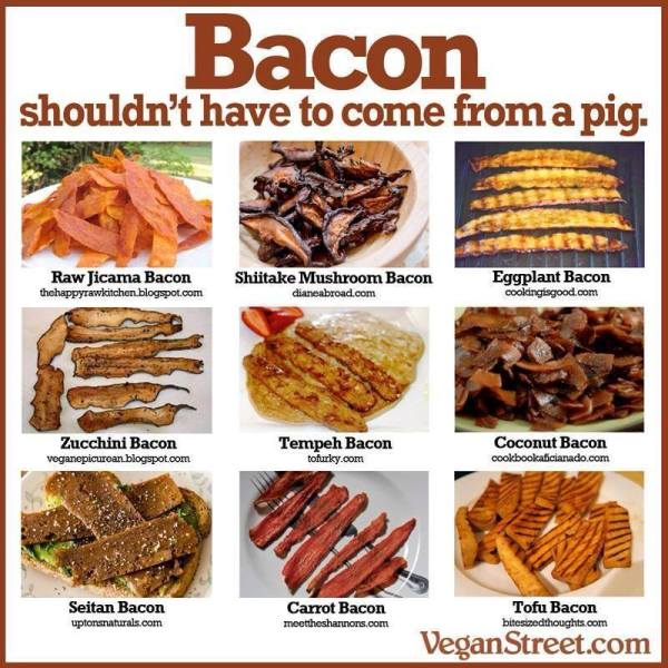 vegetarisk bacon