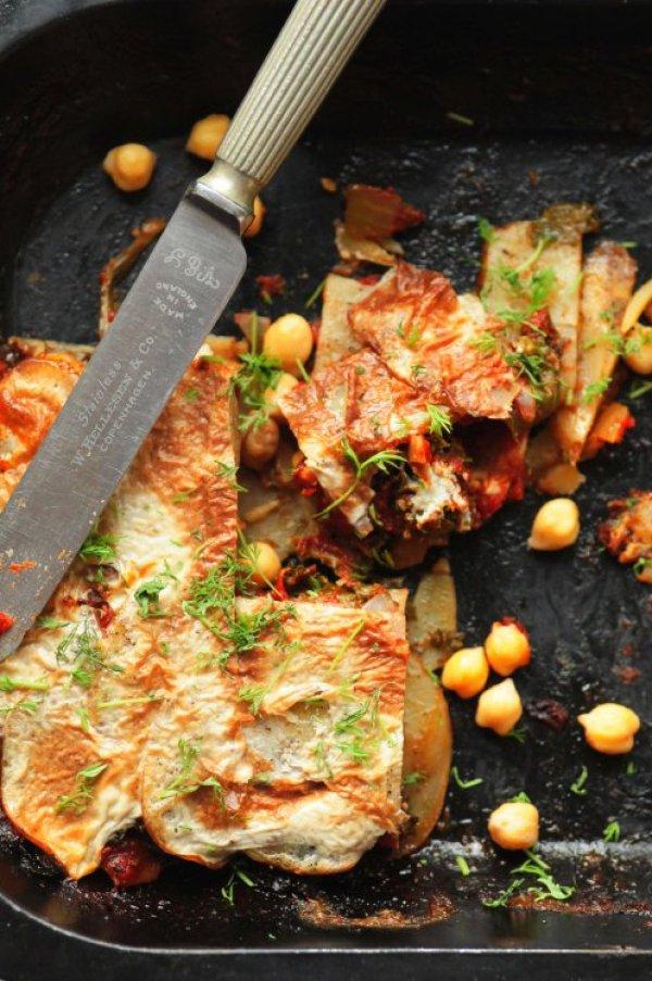 grønkål- ogkartoffelgratin a