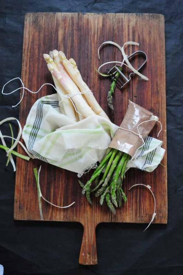asparges på bræt