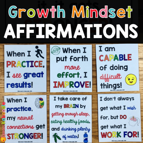 Do you use affirmations in your classroom? Do affirmations helps students shift their mindsets from a fixed mindset to a growth mindset? Find out here!