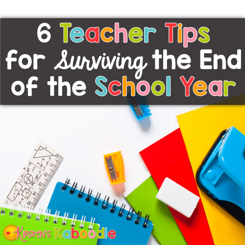 Are you in teacher with end of year burnout? The last few weeks of school are tough, no doubt! Read through these 6 tips that will help you glide through the final days of school with a fresh perspective. Say goodbye to end of year burnout!