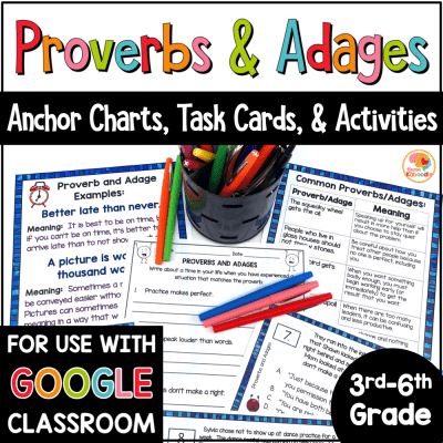 Proverbs and Adages Activity with Digital Option COVER