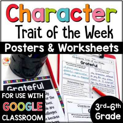 Character Traits Activities: Character Trait of the Week COVER