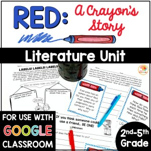 Red A Crayon's Story Activities COVER