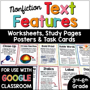 Nonfiction Text Features Activities COVER