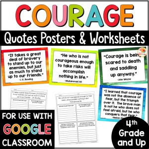 Courage Quotes Posters and Activities COVER