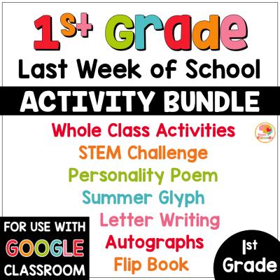 Last Week of School Activities for 1st Grade COVER