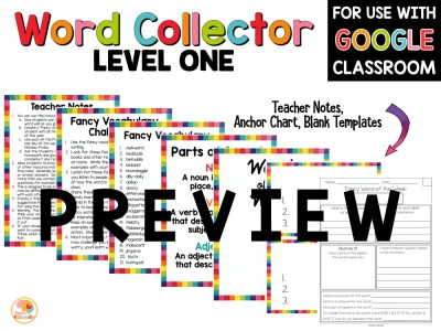 Word of the Week: Fancy Words Word Collector PREVIEW