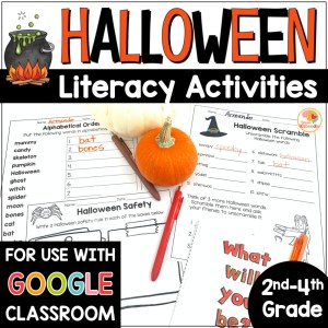 Halloween Literacy Activities COVER