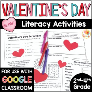 Valentine's Day Literacy Activities COVER