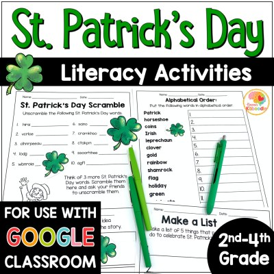 St. Patrick's Day Literacy Activities COVER