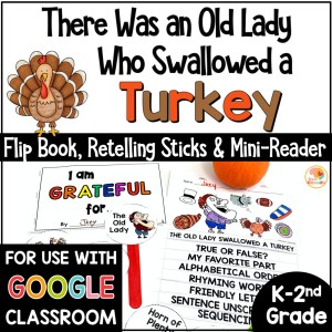 There Was an Old Lady Who Swallowed a Turkey Activities COVER