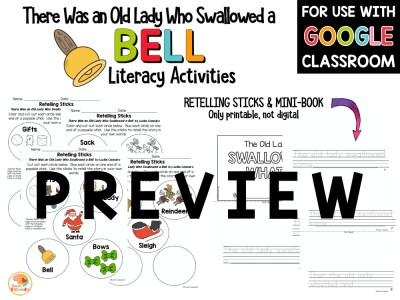 There Was an Old Lady Who Swallowed a Bell Activities PREVIEW