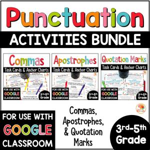 Punctuation Activities BUNDLE COVER