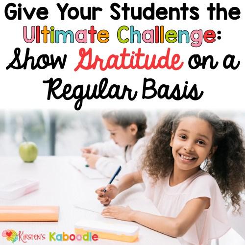 Gratitude Challenge for Kids: Gratitude Activities