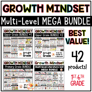 Growth Mindset Multi-Level MEGA BUNDLE Cover
