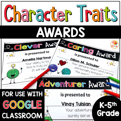 End of year Character Traits Awards Dot Dudes Digital Option COVER