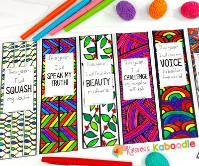 Back-to-School Bookmarks for Setting Intentions PREVIEW