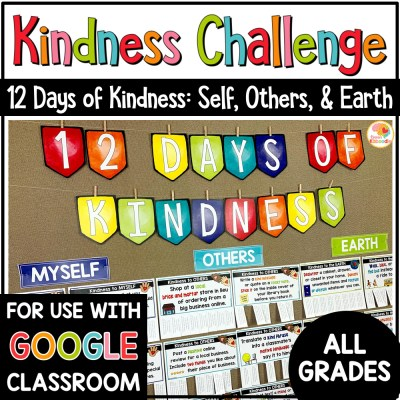 Kindness Challenge 12 Days of Kindness Activities COVER