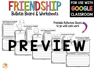 friendship-bulletin-board-and-worksheets