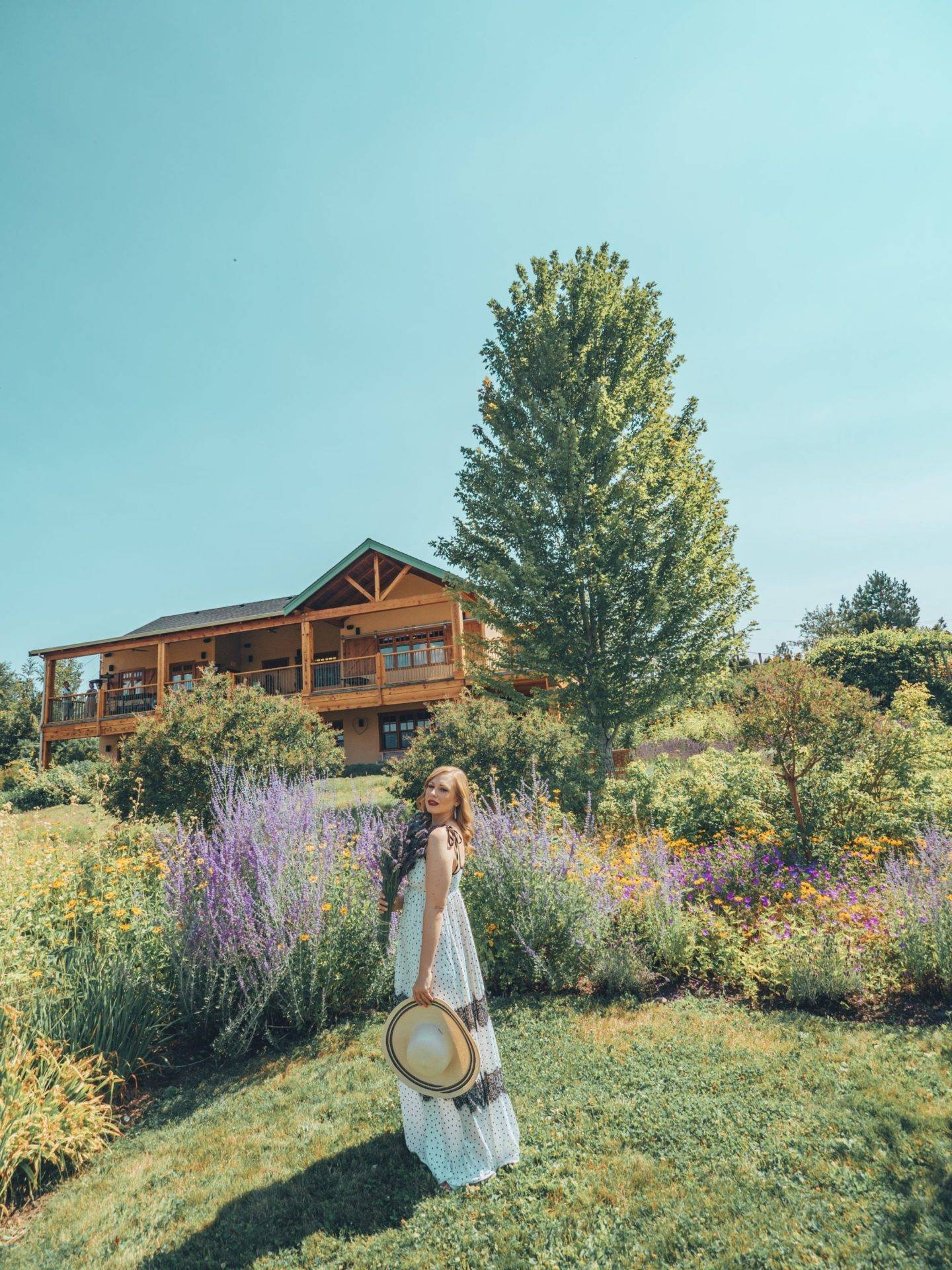 Looking for the most beautiful Instagrammable places in Kelowna? Check out this guide to find the best photography spots in Kelowna! Pictured here: The Okanagan Lavender and Herb Farm