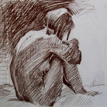 'Drawing Helen' - Sun on Back