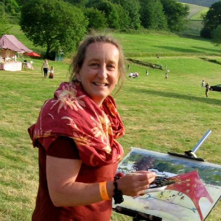 Kirstin White paints watercolours rapidly and on-the-spot