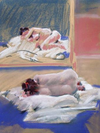 Reclining nude facing the mirror - Kirstin White 101b9361b