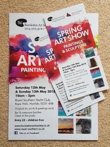 SPRING ART SHOW Saturday 12th & Sunday 13th May 2018