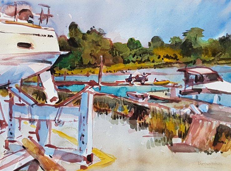 Watercolour of Swanwick