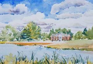 Avington Park in June Watercolour
