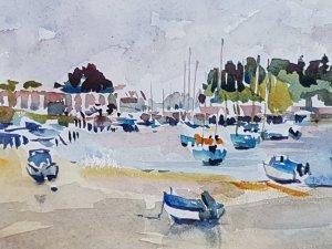 Snadbanks in Poole Watercolour