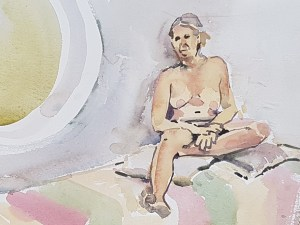 Model in watercolour