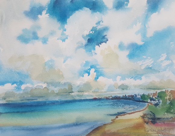 Seascape in watercolour